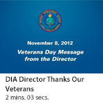 DIA Director Thanks Our Veterans