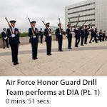 US Air Force Honor Guard Drill Team performs at DIA Headquarters. (Clip 1)