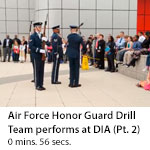 US Air Force Honor Guard Drill Team performs at DIA Headquarters. (Clip 2)