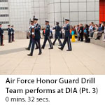 US Air Force Honor Guard Drill Team performs at DIA Headquarters. (Clip 3)