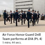 US Air Force Honor Guard Drill Team performs at DIA Headquarters. (Clip 4)