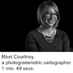 Meet Courtney, a photogrammetric cartographer at NGA